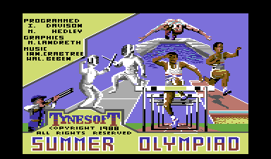 Summer Challenge Commodore 64 Loading screen