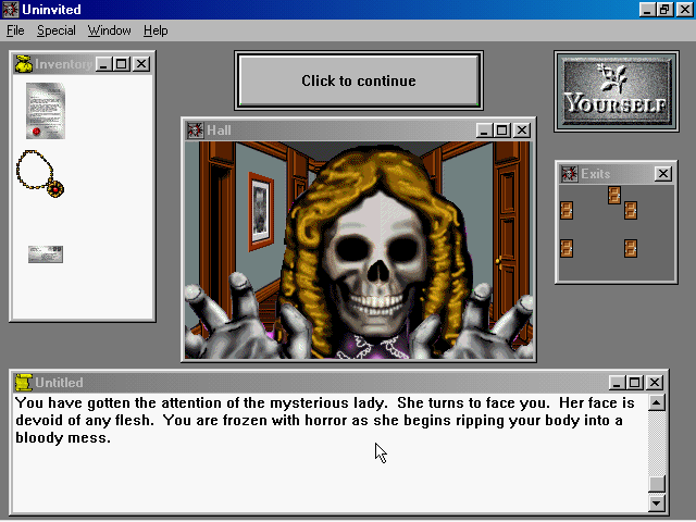 Uninvited Windows 3.x Even prettier than in the NES version.