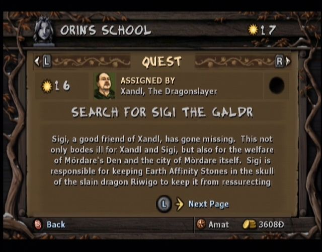 Gladius Xbox Your journal keeps track of your side quests