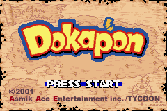 Dokapon: Monster Hunter Game Boy Advance Title Screen