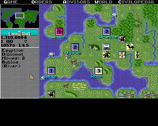 Sid Meier's Civilization Amiga Europe, 1 AD