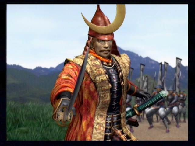 Kessen PlayStation 2 Buy this game! Shima performs some stunts and challenges Tokugawa during a pre-battle cutscene.