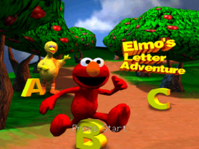 Elmo's Letter Adventure Nintendo 64 Title screen.