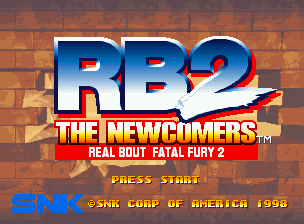 Real Bout Fatal Fury 2: The Newcomers Neo Geo CD Title screen.