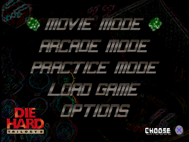 Die Hard Trilogy 2: Viva Las Vegas PlayStation Options
