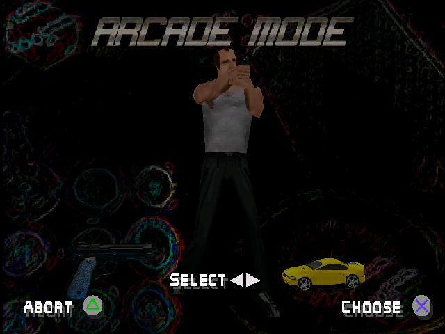 Die Hard Trilogy 2: Viva Las Vegas PlayStation Mode Selection (Arcade Mode only)