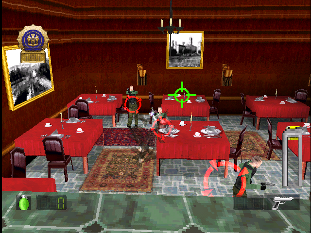 Die Hard Trilogy 2: Viva Las Vegas PlayStation Gun - The restaurant