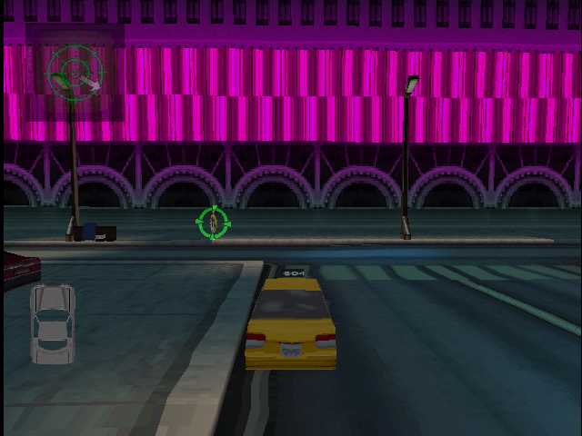Die Hard Trilogy 2: Viva Las Vegas PlayStation Driving - Driving a taxi one minute...