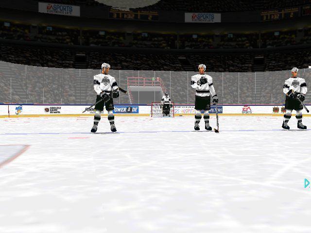 NHL 98 Windows The players lining up