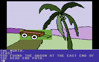 Death in the Caribbean Commodore 64 You found the wagon!