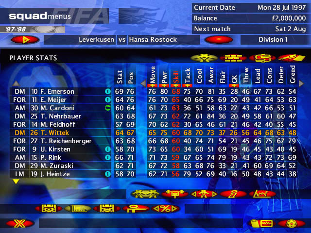 FIFA Soccer Manager Screenshots for Windows - MobyGames