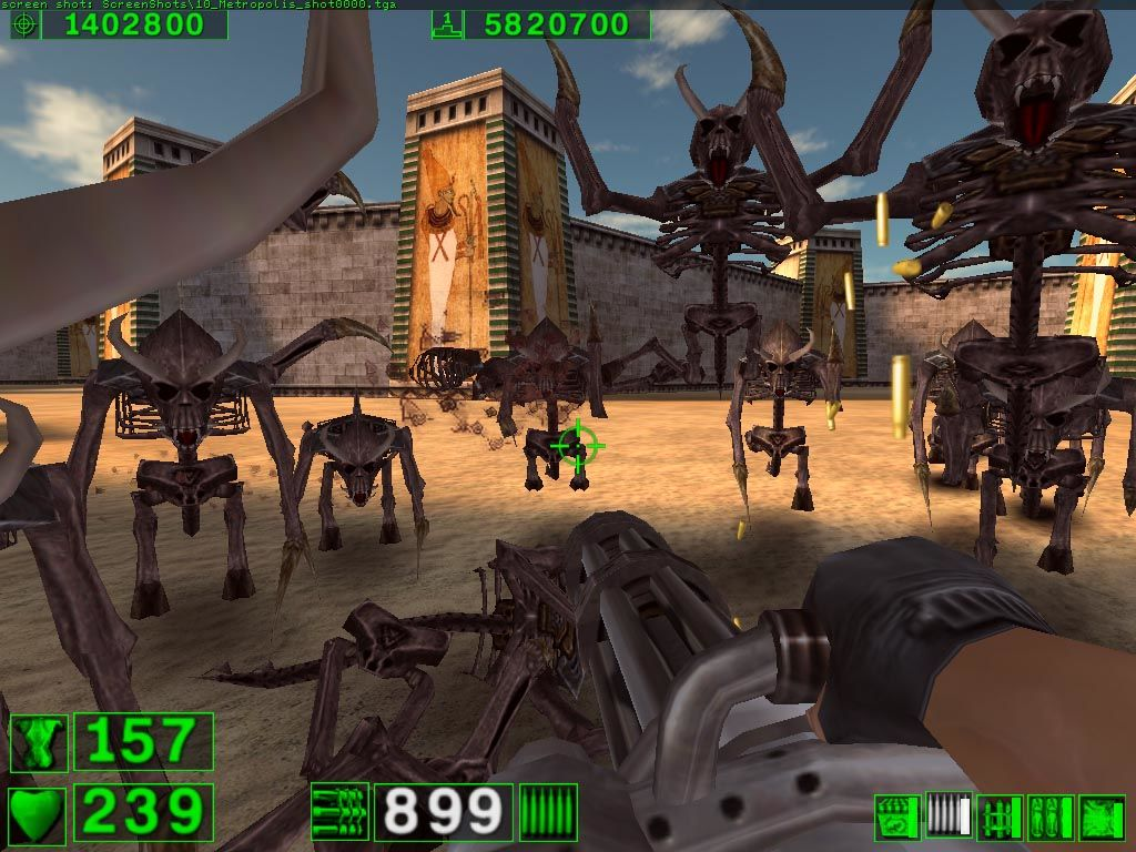 Serious Sam: The First Encounter Windows Enemies to the infinity and beyond