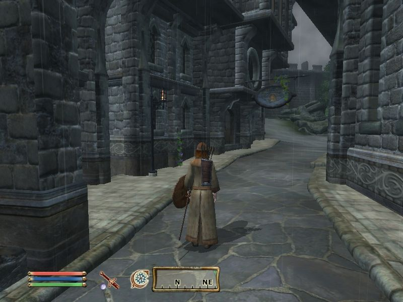 The Elder Scrolls IV: Oblivion Windows Skingrad in the rain