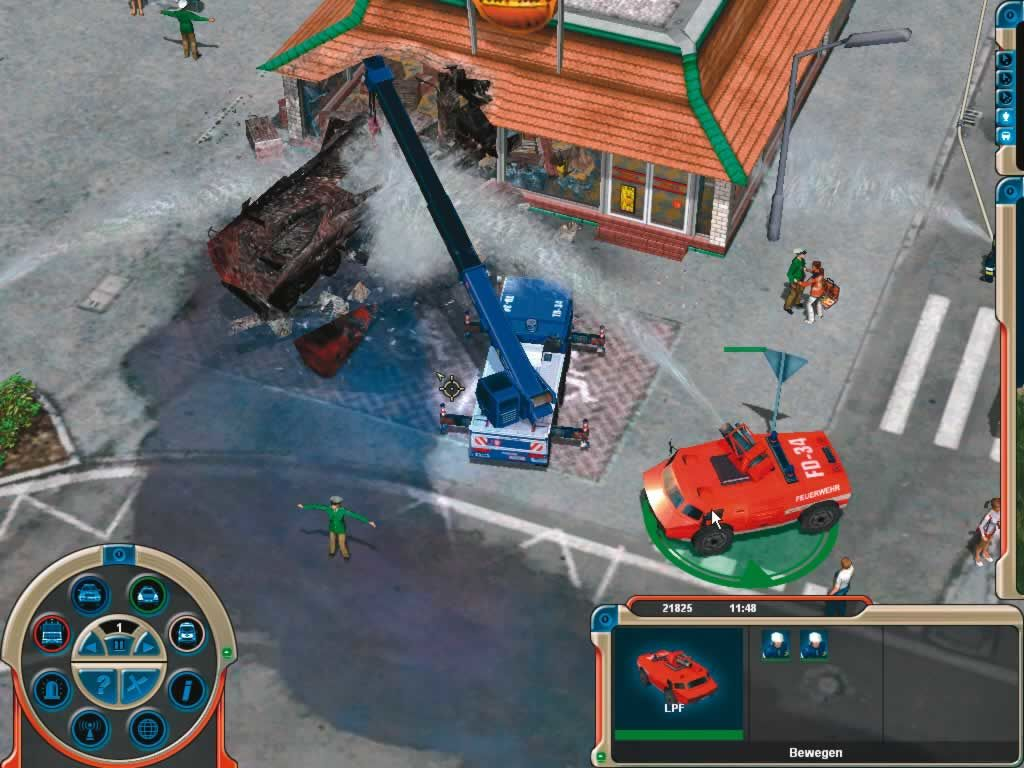 Emergency 3 Windows a truck loaded with gasoline crushed into a fast-food restaurant
