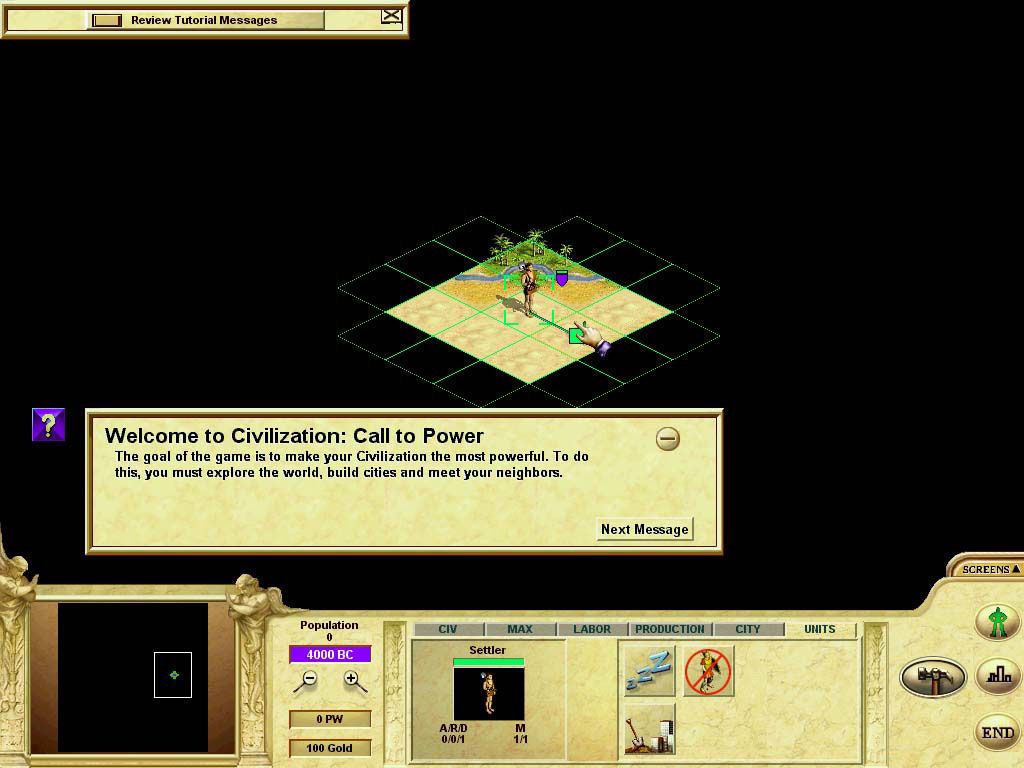 Civilization: Call to Power Linux Just Starting (Linux)