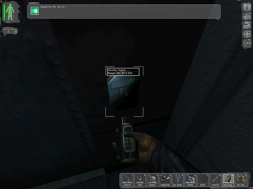 Deus Ex Windows Using a multitool to bypass a security pad