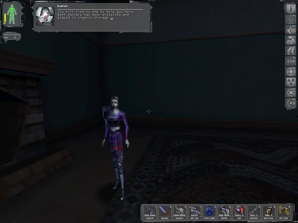 Deus Ex Windows A particular creepy message