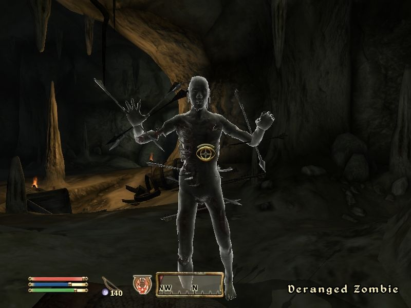 The Elder Scrolls IV: Oblivion Windows A deranged pin cushion won't stop attacking me