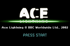 Ace Lightning Game Boy Advance Title Screen