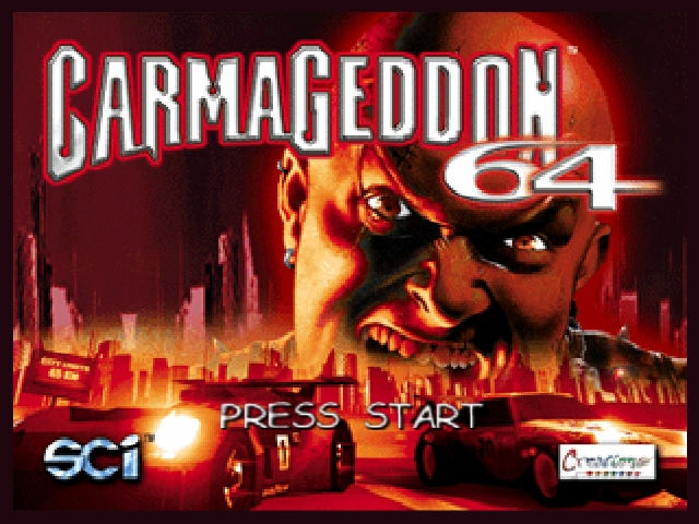 Carmageddon 2: Carpocalypse Now Nintendo 64 Title screen.