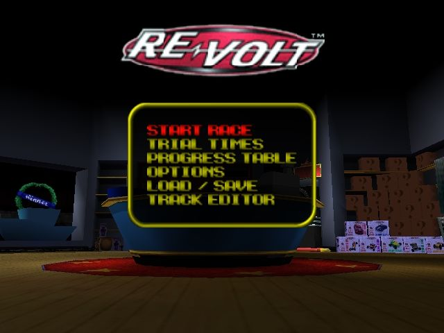 Re-Volt Nintendo 64 Title screen / Main menu.