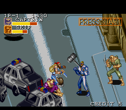 Captain Commando SNES The captain is about to use his sledgehammer