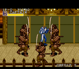 "Captain Commando SNES ""Help! I am surrounded by Musashis!"""
