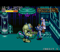 "Captain Commando SNES ""That monster is just too big for me to handle on my own."""