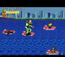 Captain Commando SNES Stage 05: The Seaport