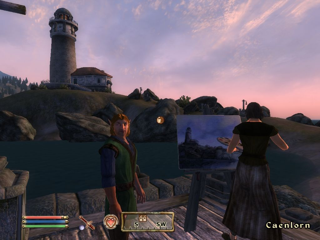 The Elder Scrolls IV: Oblivion Windows Radiant AI means that NPCs act on their own impulses (including painting)