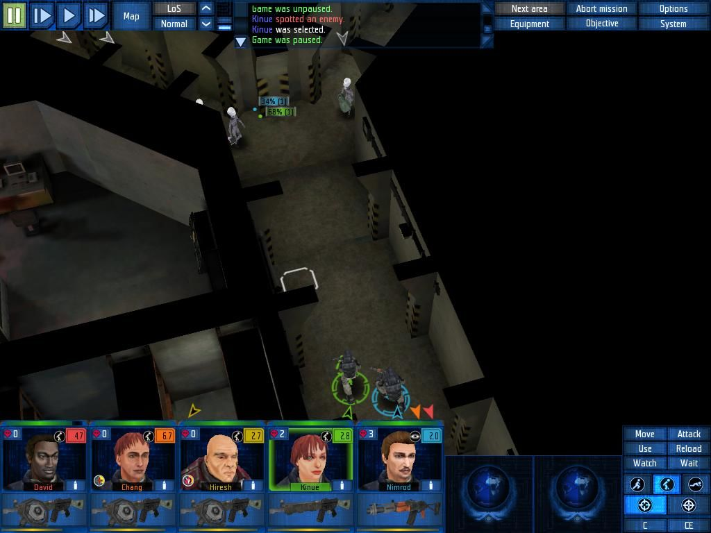 UFO: Aftershock Windows Alien ambush (luckily these grey guys are very weak)