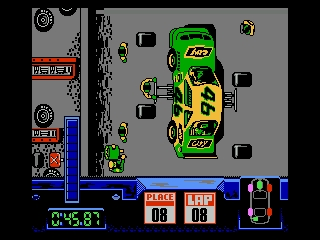 Days of Thunder NES Lifting your car