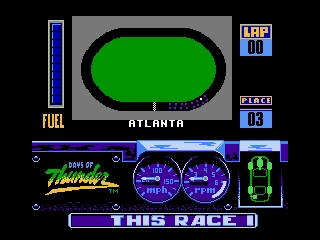 Days of Thunder NES Showing Atlanta's circuit