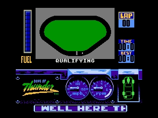 Days of Thunder NES Showing Daytona's circuit