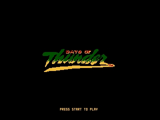 Days of Thunder NES Title Screen 3