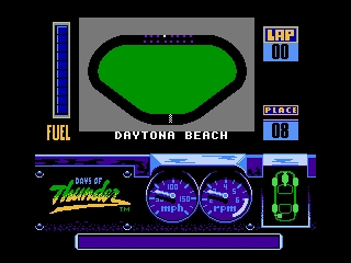 Days of Thunder NES Daytona's Starting grid