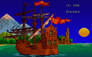Big Sea: The Better One Will Win DOS Intro screen