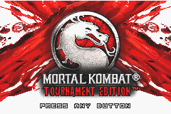 Mortal Kombat: Tournament Edition Game Boy Advance Title screen.