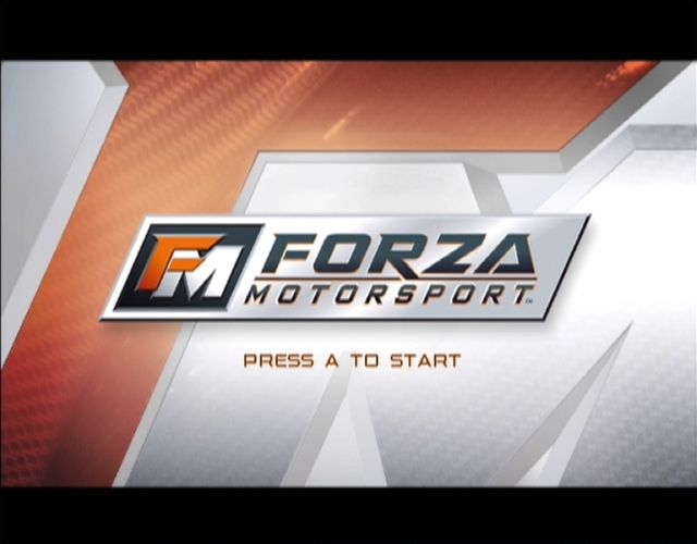 Forza Motorsport Xbox The start screen