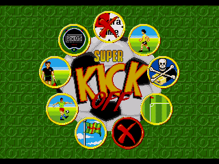 Super Kick Off Genesis Options menu