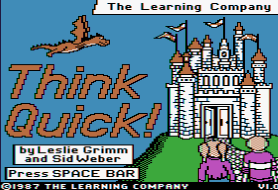 Think Quick! Apple II Title screen