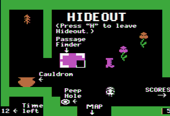 Think Quick! Apple II Visit the hideout