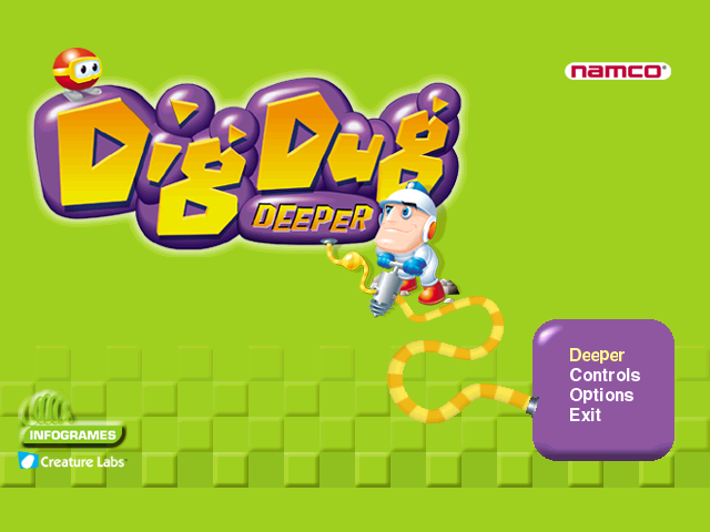Dig Dug Deeper Windows Title/Options
