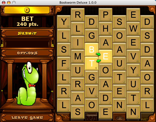 Bookworm Deluxe Macintosh Making a word