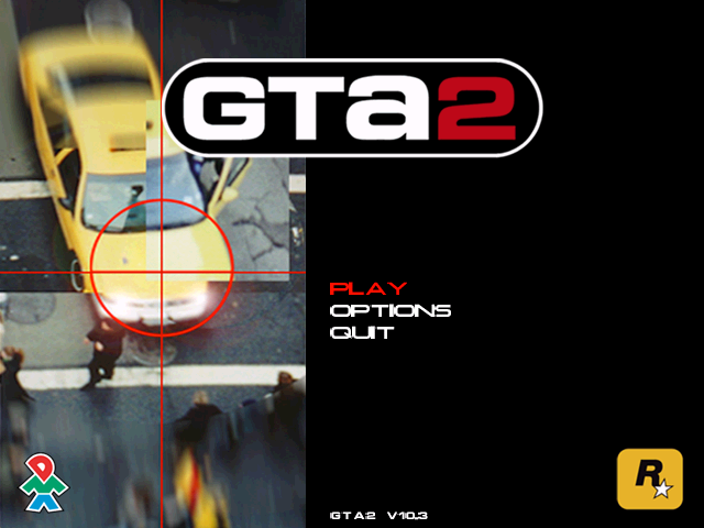 Grand Theft Auto 2 Windows Main menu