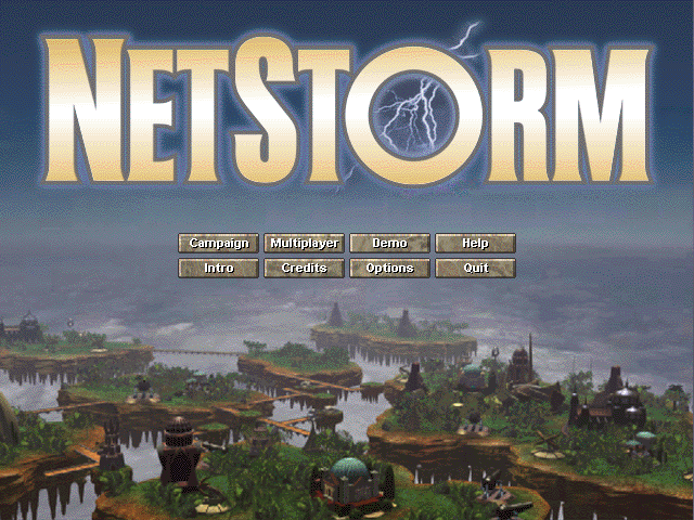 NetStorm: Islands at War Windows Main Menu