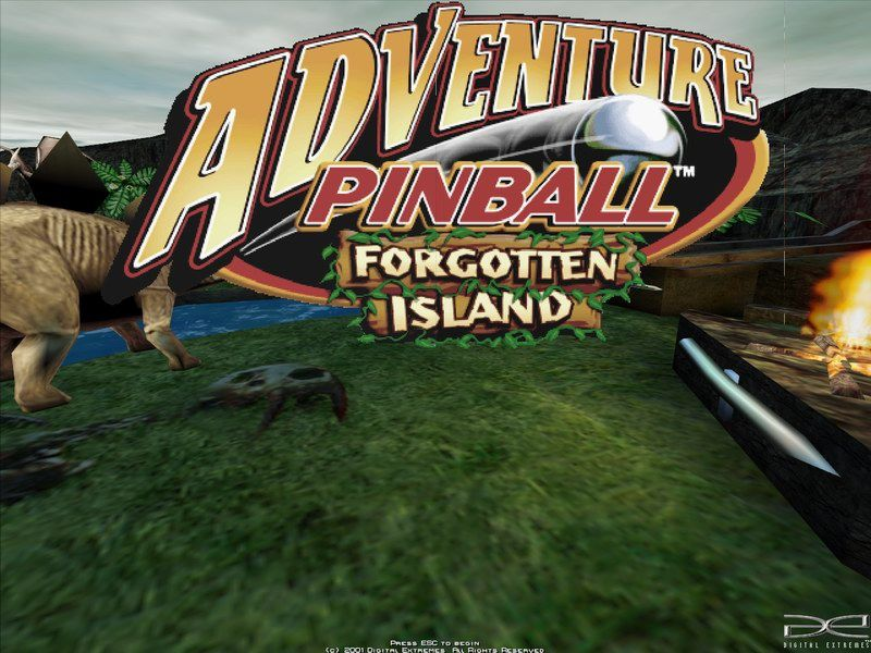 Adventure Pinball: Forgotten Island Windows Title screen