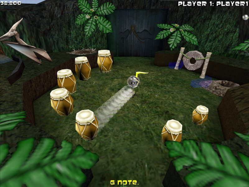 Adventure Pinball: Forgotten Island Windows Ooga's House - beating the drums