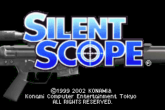 Silent Scope Game Boy Advance Title screen.