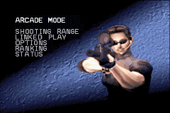 Silent Scope Game Boy Advance Main menu.